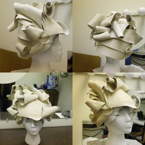 Piano muse headdress, EVA foam