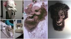 Werewolf mask build progression