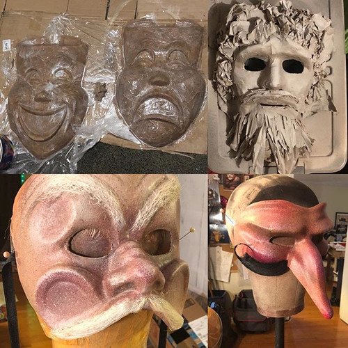 Mask samples from A Complete History of Comedy