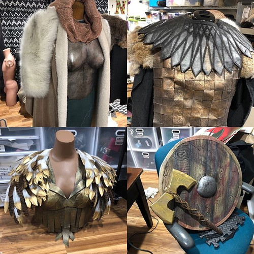 Norse armor, EVA foam, paper, leather
