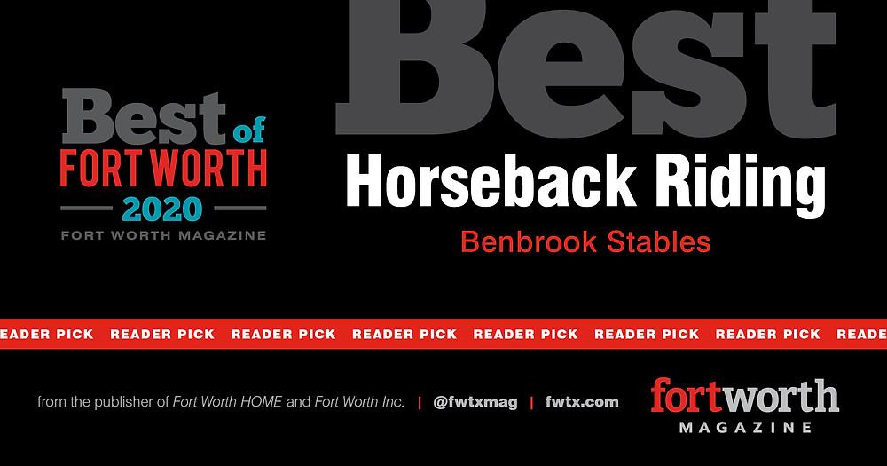 Best of Fort Worth Horseback Riding at Benbrook Stables