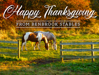 Happy Thanksgiving From Benbrook Stables