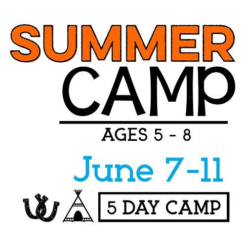 Summer Horse Camp June 7-11 with T-Shirt & Camp Photo