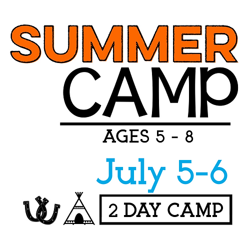Summer Camp July 5 & 6 with T-Shirt & Camp Photo