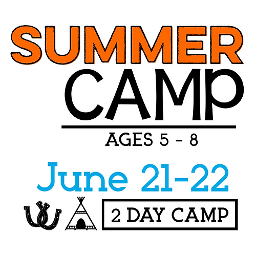 Summer Camp June 21 & 22 with T-Shirt & Camp Photo