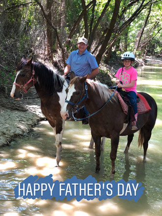 Happy Father's Day from Benbrook Stables