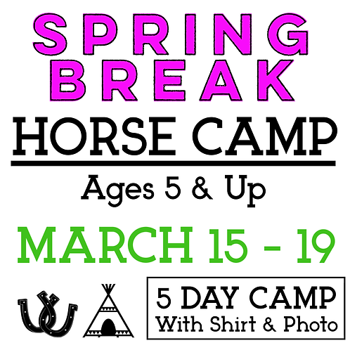 Spring Break Camp March 15-19 with T-Shirt & Camp Photo