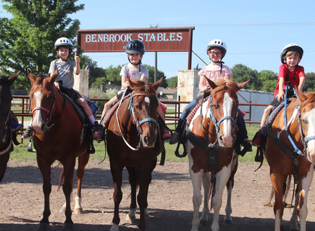 Thank You for Being a part of Benbrook Stables Summer Camps and Riding Academys