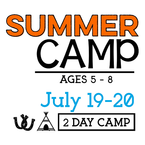 Summer Camp July 19 & 20 with T-Shirt & Camp Photo