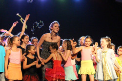 Sarah Goliard et les élèves