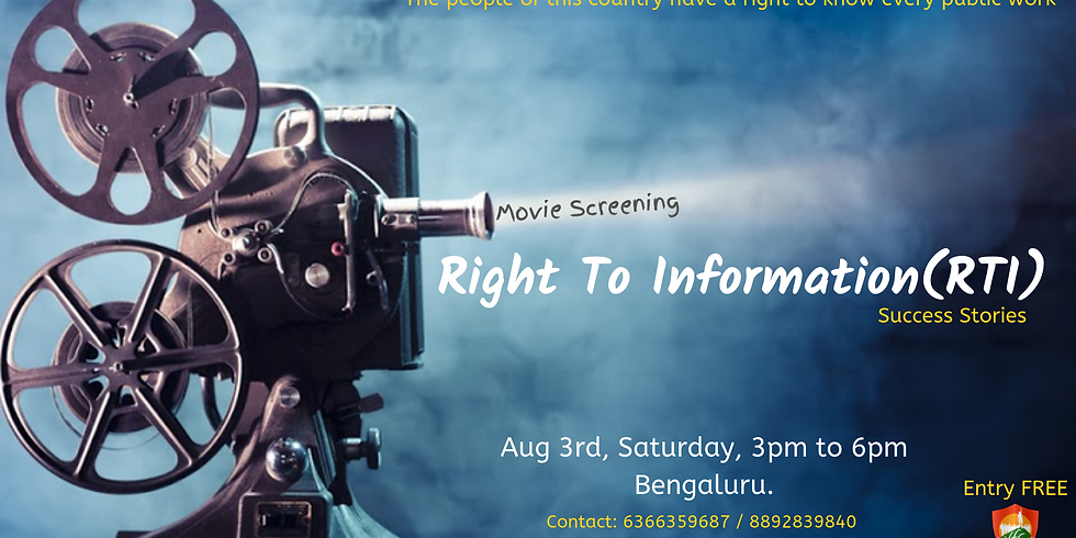 RTI Movie Screening and Workshop!