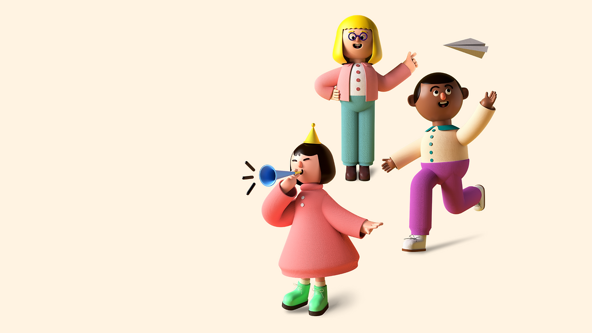 Colorful 3D Illustrated Remote Learning