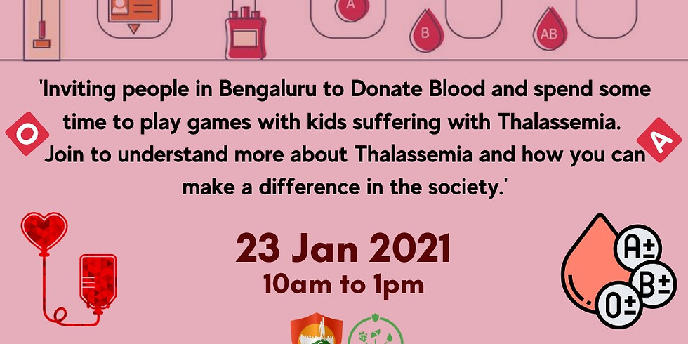 Emergency Blood Donation Drive For Thalassemia Kids