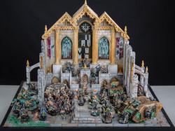 Full Dark angel´s army over scenic base