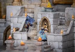 Dark elf assasin and Vampire duel