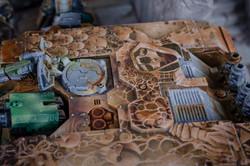 Space Marines land raider top detail