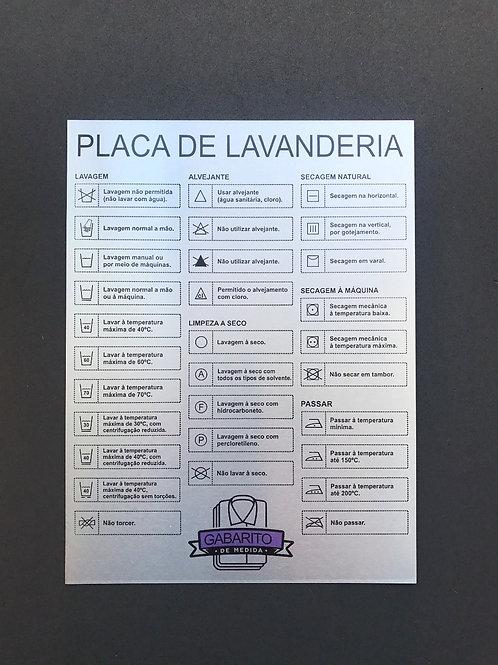 Placa de Lavanderia