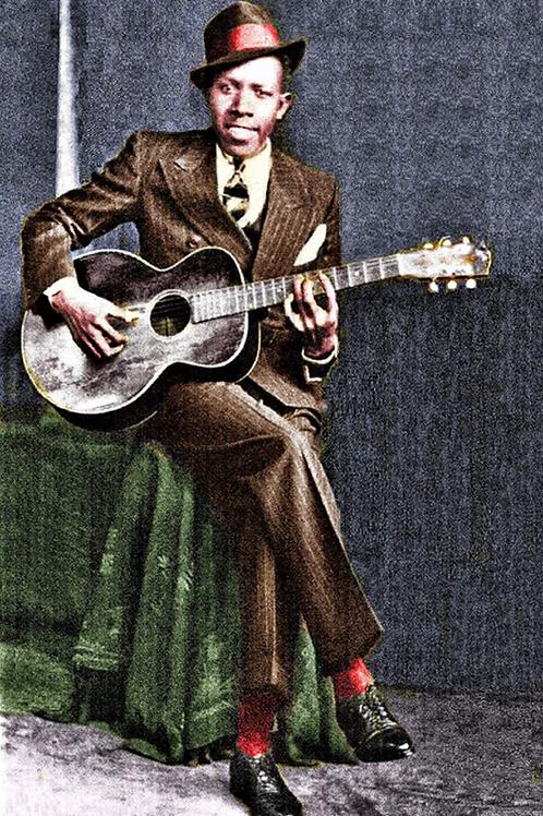 Robert Johnson colorized poster