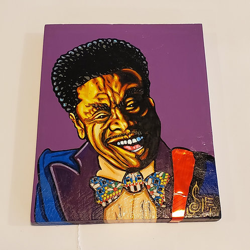 BB King painting by J.D. Sipe