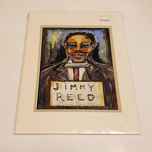 """""""Jimmy Reed"""" matted print by Stan Street"""