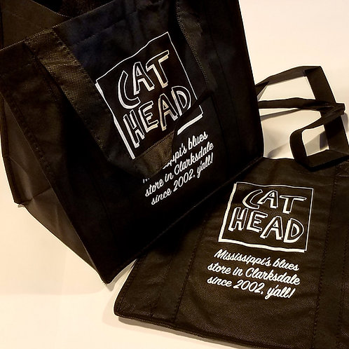 """Cat Head"" tote bags (set of 2)"