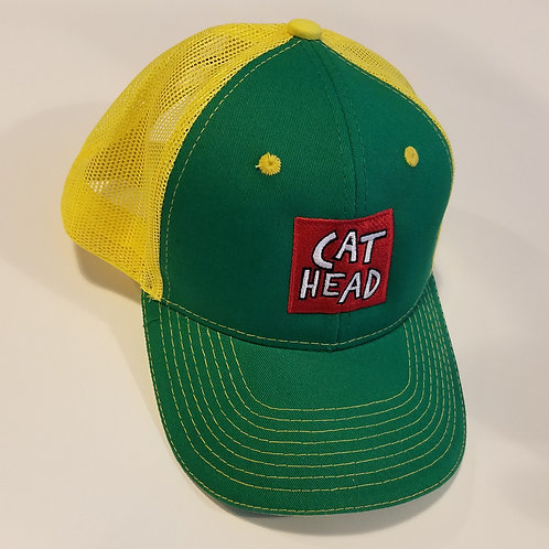 """Cat Head/Clarksdale, Mississippi"" green/yellow cap"