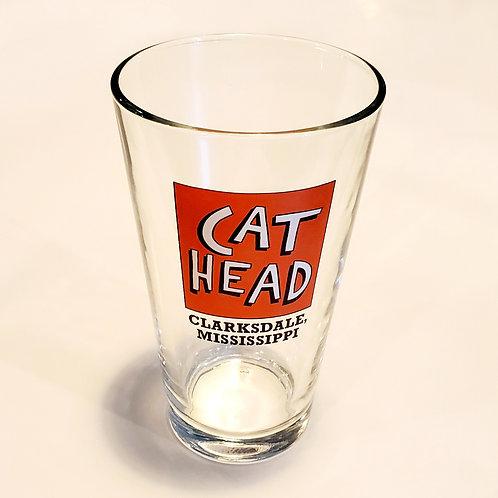 """Cat Head/Clarksdale, Mississippi"" beverage glass"