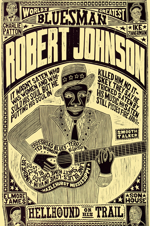 Robert Johnson retro art poster