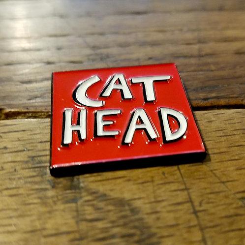 """Cat Head"" enamel lapel pins (2)"
