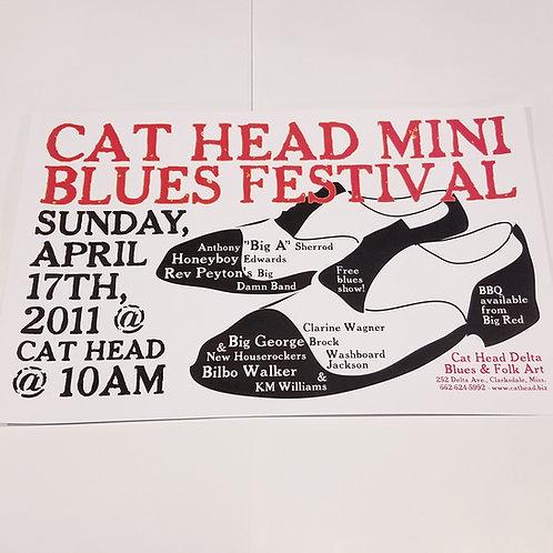 Cat Head Blues Fest poster #2 w/tube