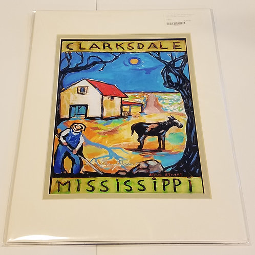 """""""Clarksdale"""" matted print #4 by Stan Street"""