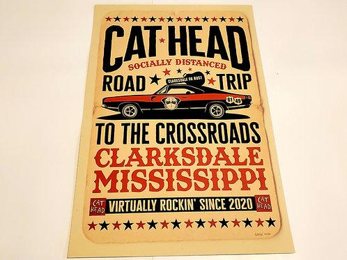Cat Head Pandemic print w/tube