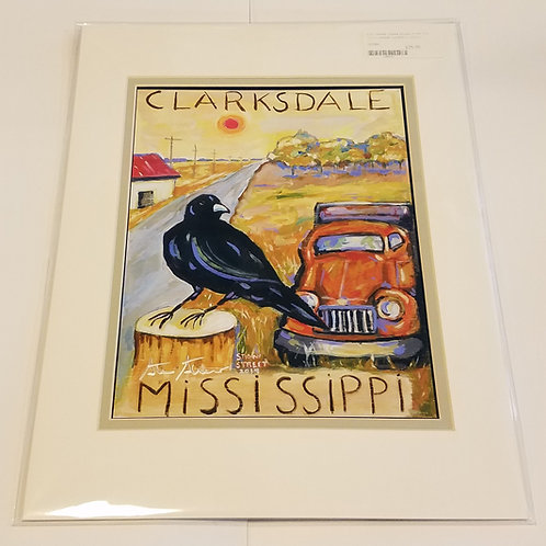"""""""Clarksdale"""" matted print #2 by Stan Street"""