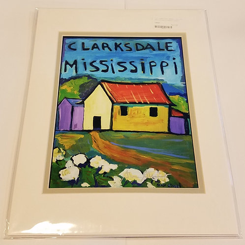 """""""Clarksdale"""" matted print #1 by Stan Street"""