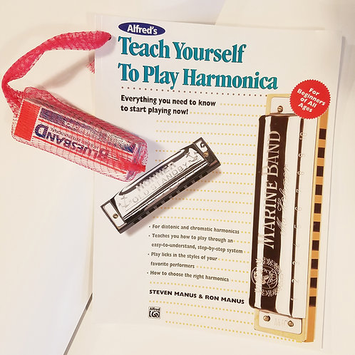Teach Yourself Harmonica book & harmonica kit
