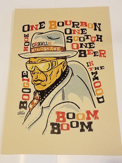 "John Lee Hooker ""Boom Boom Boom"" print"