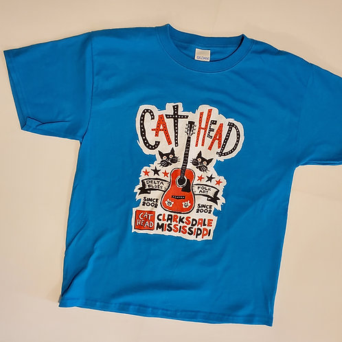 "Youth-sized ""Cat Head"" T-shirt in 2 colors"