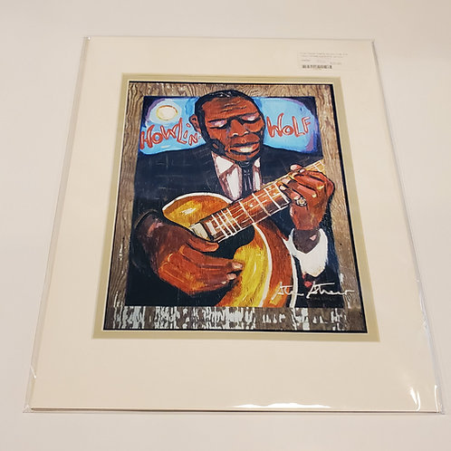 """Howlin' Wolf"" matted print by Stan Street"