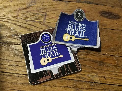 MS Blues Trail patch & sticker set
