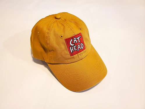 """Cat Head/Clarksdale, Mississippi"" mustard cap"