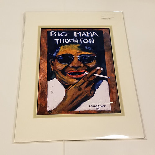 """Big Mama Thornton"" matted print by Stan Street"