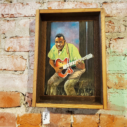 Howlin' Wolf painting by W.E. Robinson