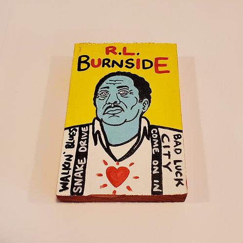 """Mini """"RL Burnside"""" art by Chris Kruse"""