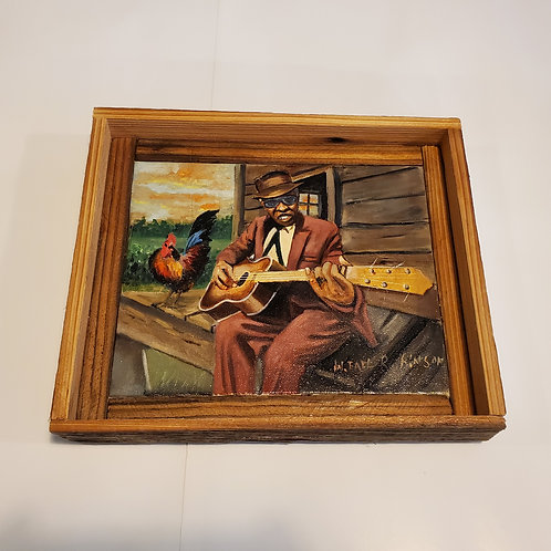 Rooster Bluesman painting by W.E. Robinson