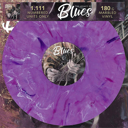 """VARIOUS """"The Legacy of the Blues"""" marbled vinyl LP"""