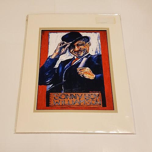 """Sonny Boy  Williamson II"" matted print by Stan Street"