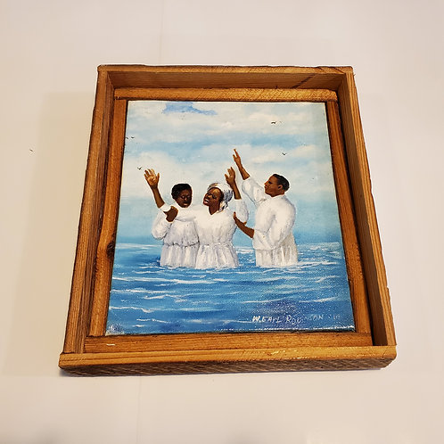 Mississippi trio baptism painting by W.E. Robinson