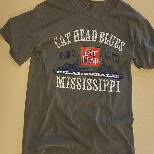 """S/S """"Cat Head Clarksdale"""" T-shirt (unisex)"""