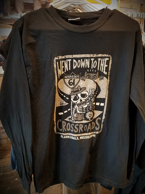 "S - Adult ""Crossroads"" long sleeve T-shirt"