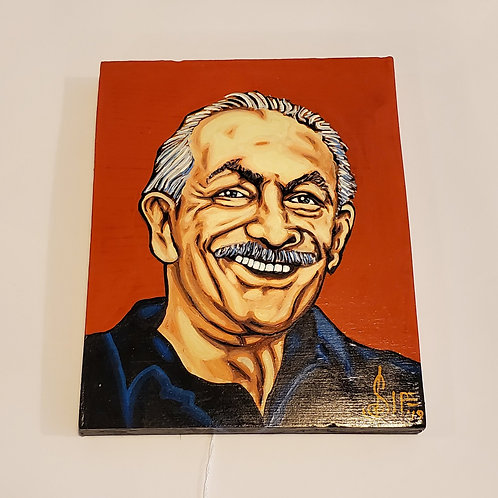 Charlie Musselwhite painting by J.D. Sipe
